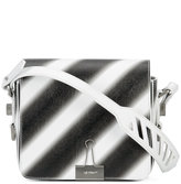Off-White diagonal spray flap bag - women - Leather/Polystyrene - One Size