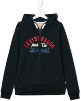 Levi's Kids teen logo print zip jacket