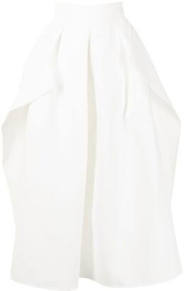 Maticevski Pleated Midi Skirt