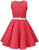 Black Butterfly Clothing Black Butterfly Kids 'Audrey' Vintage Polka Dot 50's Dress (, 9-10 YRS)