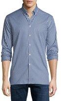 Burberry Matlock Gingham Long-Sleeve Sport Shirt, Bright Navy