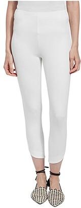 Lysse Jasmyne Crop Leggings in Lightweight Ponte (Black) Women's Casual Pants
