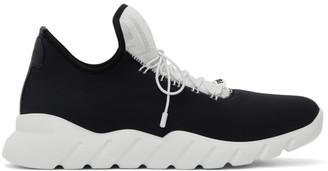 Fendi Black and White Tech Knit Sneakers