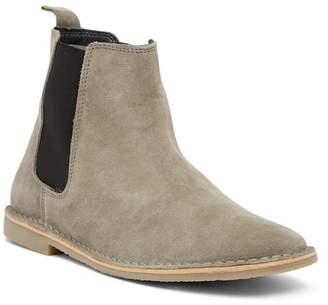 Crevo Grey Suede Chelsea Boot