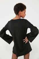 Truly Madly Deeply Ruffled Bell-Sleeve Tunic Top