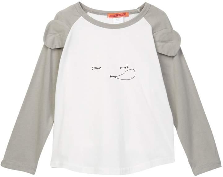 Funkyberry Graphic Print Raglan Shirt (Toddler & Little Girls)
