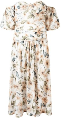 Bec & Bridge Fleuette floral-print midi dress