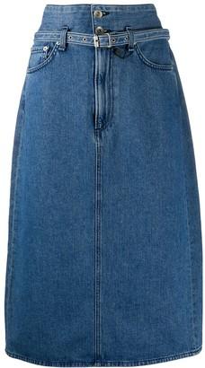 Rag & Bone A-line denim skirt