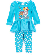 Children's Apparel Network PAW Patrol Turquoise Dress & Pants - Infant & Toddler