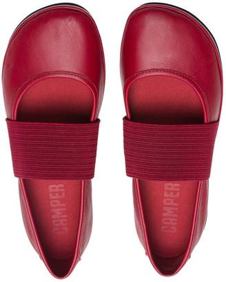 Camper Right Nina 21595175 Medium Red Flat Shoes