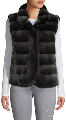Wolfie Fur Made For Generation Quilted Mink Fur Vest