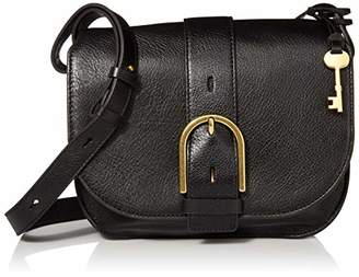 Fossil Women's Wiley Leather Saddle Bag Handbag