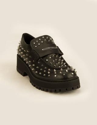 Steve Madden Malvern Studded Womens Loafers