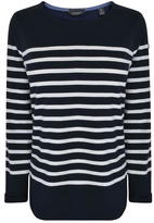 Maison Scotch Long Sleeved Striped Sweatshirt
