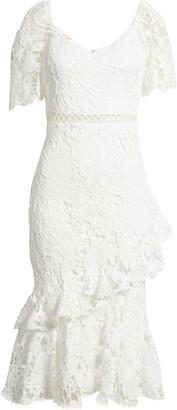 Lulus Briarwood Ruffle Lace Cocktail Dress