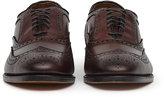 Reiss Reiss Mcallister - Allen Edmonds Wingtip Leather Brogues In Brown