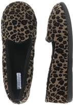 Dearfoams Women's Velour with Terry Closed Back Slipper, XL, Leopard