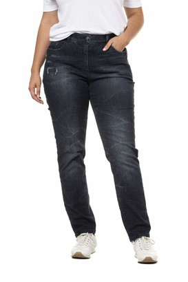 Ulla Popken Women's Jeans Mit Zipperdetail Mia Straight