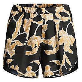 MAISON DU SOIR Women's Firenze Floral Silk Shorts