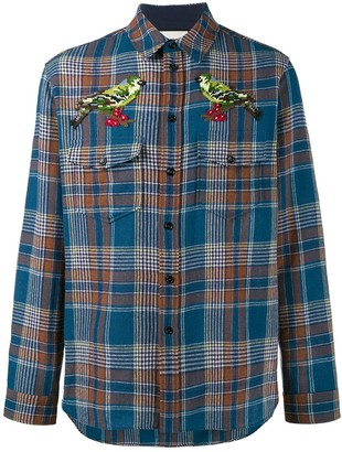 Gucci needlepoint plaid shirt