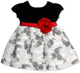 Bonnie Baby Baby Girls' Velvet & Floral-Print Dress