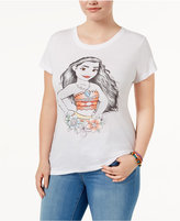 Hybrid Trendy Plus Size Cotton Moana Graphic T-Shirt
