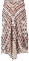 Derek Lam 10 Crosby floral print draped skirt