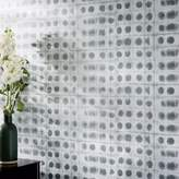 west elm Textured Metallic Dot Wallpaper