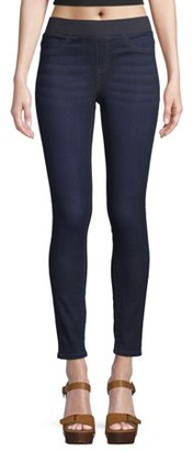 No Boundaries Juniors' Essential Pull-On Knit Woven Jeggings