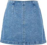 Topshop PETITE Dart Seam A-Line Denim Skirt