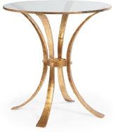 Modern History Retro Hammered Side Table, Gold Leaf