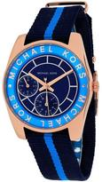 Michael Kors MK2402 Women's Ryland Blue Nylon Watch with Crystal Accents