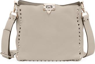 Valentino Rockstud Small Leather Hobo Bag