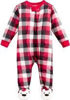 Family Pajamas Baby Boys' or Baby Girls' Buffalo Plaid Footed Pajamas, Created for Macy's
