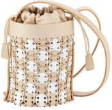 Paco Rabanne Iconic Mini Bicolor Bucket Bag