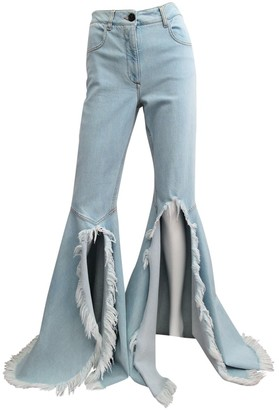 Vionnet Blue Cotton - elasthane Jeans for Women
