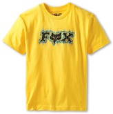 Fox Draggy S/S Tee (Big Kids) (Yellow) - Apparel