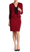 Anne Klein Houndstooth Knit Skirt