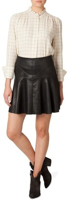 Skin and Threads Faux Leather Flounce Skirt