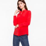 Paul Smith Women's Bright Red Silk Shirt