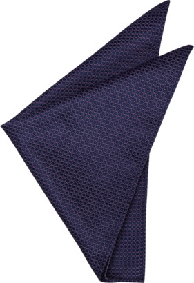 yd. Grape Geo Design Pocket Square