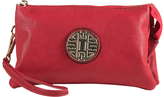 Red Emblem Crossbody Clutch & Wristlet