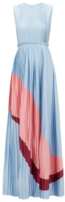 Roksanda Isabella Pleated Satin Gown - Blue