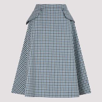Lanvin Flap Pocket A-Line Skirt