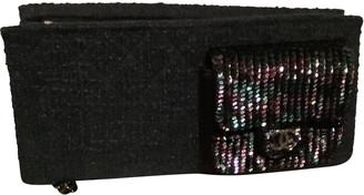 Chanel Black Tweed Clutch bags