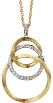 Marco Bicego 18K Yellow Gold Jaipur Link Diamond Pendant Necklace, 16.5""