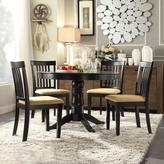 HomeSullivan 42 in. Black Round Dining Set with Mission Back Side Chairs (5-Piece)