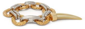 Chloé Resin-tooth Two-tone Charm Bracelet - Womens - Gold