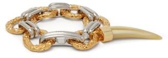 Chloé Resin-tooth Bi-colour Charm Bracelet - Gold