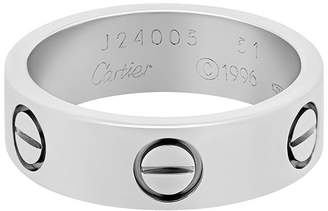 Cartier 18K White Gold Love Ring, Size 5.75